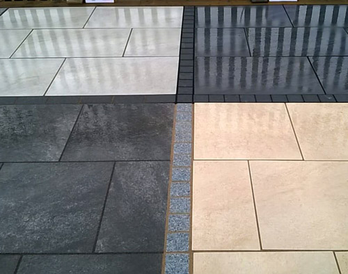 Indian Stone and Porcelain Paving